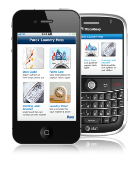 Purex Laundry Help App iPhone and Blackberry Screenshot